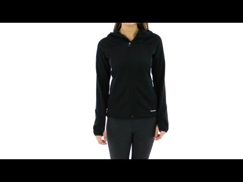 Adidas Women's Hiking/Trekking 1 Sided Fleece Running Hoodie | SwimOutlet.com