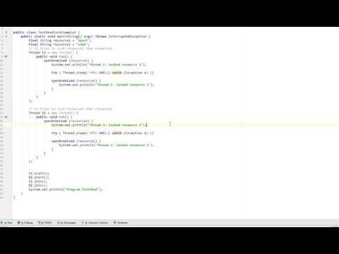 Deadlock in Java simple example
