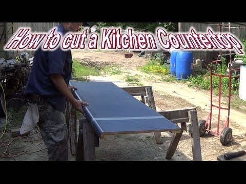 How to cut a Kitchen Countertop