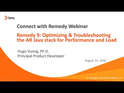 Remedy 9: Opt & Troubleshooting the AR Java stack for Perf and Load