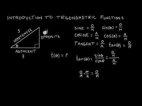 Introduction To Trigonometric Functions -- Sine Cosine and Tangent -- Trigonometry