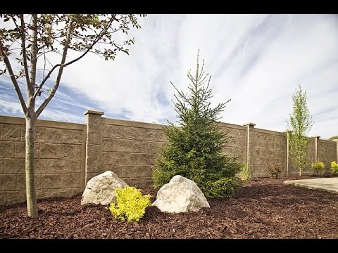 How to Install a RhinoRock concrete fence