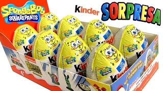 Kinder Surprise Spongebob Sponge Out Of Water - Bob Esponja Un Héroe Fuera Del Agua Huevos Sorpresa