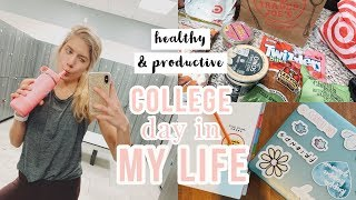 Download very productive college day in my life // working out, grocery haul, classes + more! Video