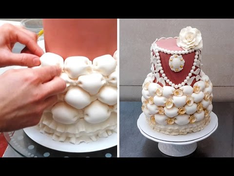 Billowed Cake How To Make Decorar con Fondant by CakesStepbyStep