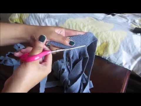 How to Make a Woven bag w/ Old T-shirts!