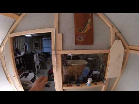 Ice Shanty with Homemade Wood Stove Update