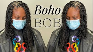 This Was So Hard| My 4th Try Recreating @pearlthestylist Viral Boho Bob| Dopeaxxpana