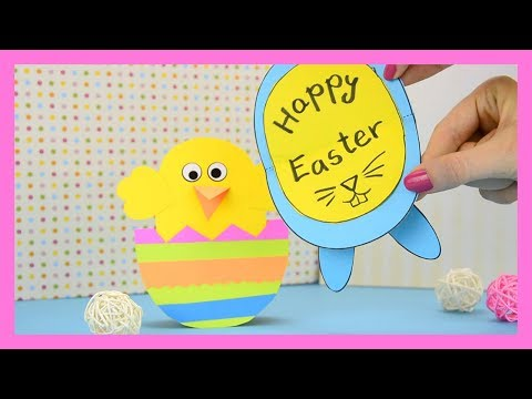 How to Make Rocking Chick And Bunny Easter Card #colorize