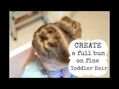 Hairstyles for toddler girl - Create a bun with fine hair