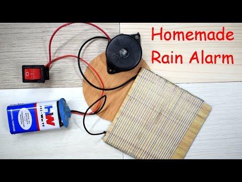 How To Make Rain Water Alarm At Home | DIY Rain Alarm | Rain Detector Project