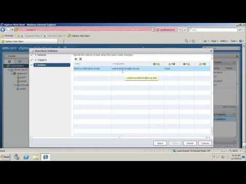 Configure Alarms and Notification for VMware vSphere (vSOM)