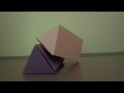 DIY PAPER TRIANGULAR PRISM BOX OR SOLID SHAPE