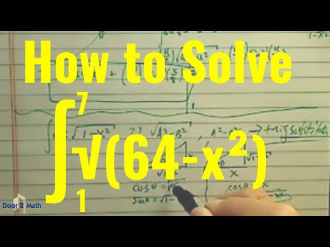 *how to find integral (antiderivative) of sqrt(1-x^2) using trig substitution