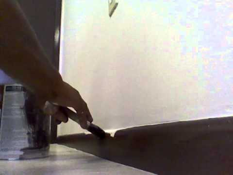 how to  Painting Baseboards and make straight lines on the wall with paint