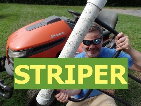 DIY Lawn Striper For Riding Mowers