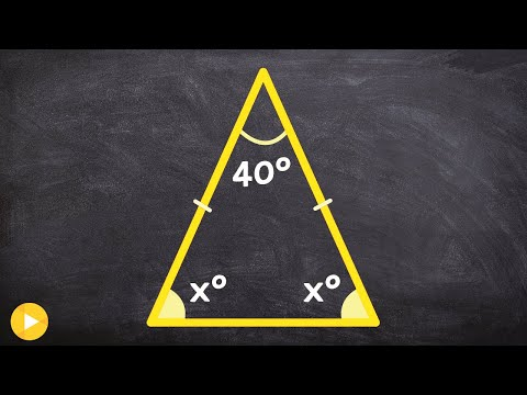 Find the missing measure of angles for an isosceles triangle