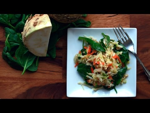 Celery Root & Spinach Salad Recipe