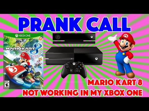 Xbox Customer Support Prank Call - Mario Kart 8 Wont Work On My Xbox One Console