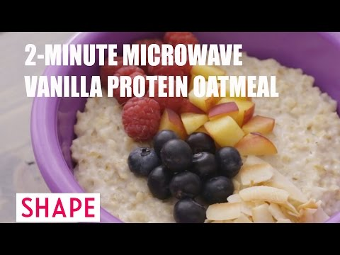 2-Minute Microwave Vanilla Protein Oatmeal