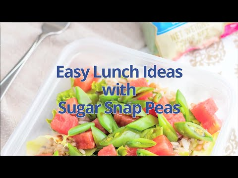 5 Easy Lunches with Sugar Snap Peas | Produce Made Simple