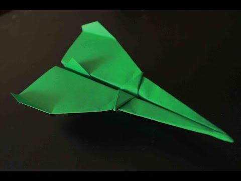 Como hacer un Avion de Papel que Vuela Mucho - Origami Avión | Fighter Paper Plane