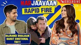 Sidharth Malhotra And Tara Sutaria's ULTIMATE Bollywood RAPID Fire | Marjaavaan | Exclusive