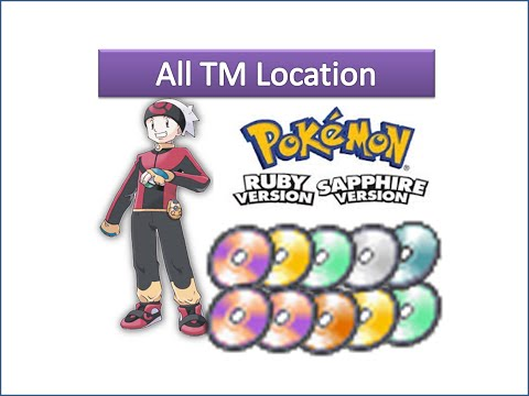 Pokemon Ruby & Sapphire - All TM Locations