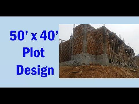 50' x 40' plot design