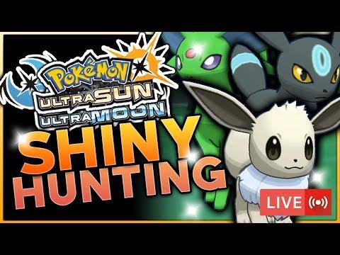 LIVE SOS SHINY EEVEE, UMBREON & ESPEON HUNTING! Pokemon Ultra Sun and Ultra Moon Shiny Hunting