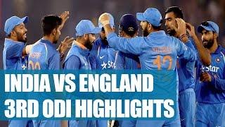 India vs England 3rd ODI : Match highlights, Kohli & Co to chase 321 runs | Oneindia News