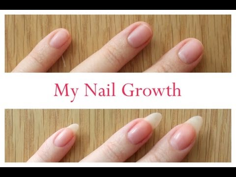 Nail Growth And Cutting My Stiletto Nails (time lapse)