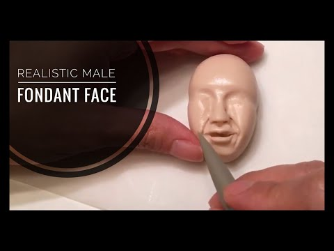 Realistic Male Fondant Face - How to Model - Topper Part 1 of 2: Timelapse Tutorial