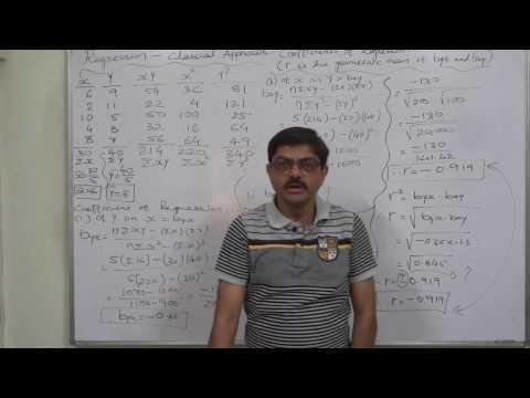 Regression - 6 Calculation of Coefficients of Regression