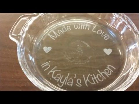 How to use a Vinyl Decal Sticker Stencils to Etch a Glass Dish