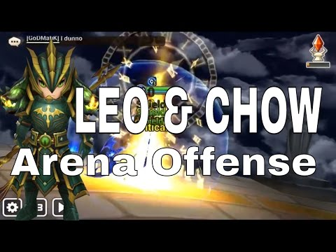 Water Dragon Knight Chow Arena Offense Gameplay with Leo - Summoners War