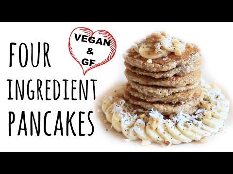 Vegan Pancakes | 4 ingredients & Gluten-free