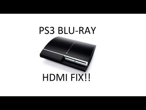 PS3 Blu-Ray HDMI No Video Fix!