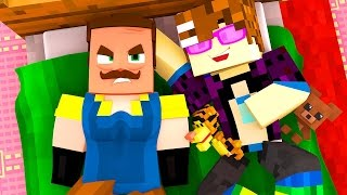 LIVING WITH THE NEIGHBOR!?   Hello Neighbor Minecraft Roleplay
