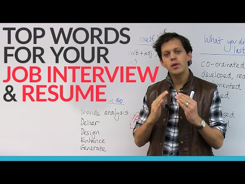 Top words for your JOB INTERVIEW & RESUME