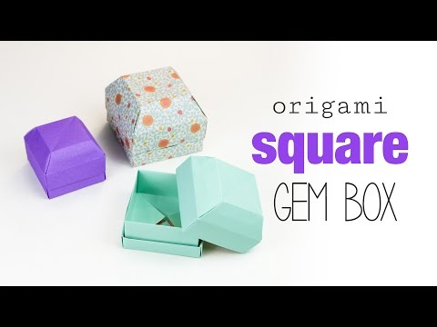 Square Origami Gem Box Tutorial ♥︎ DIY ♥︎ Paper Kawaii