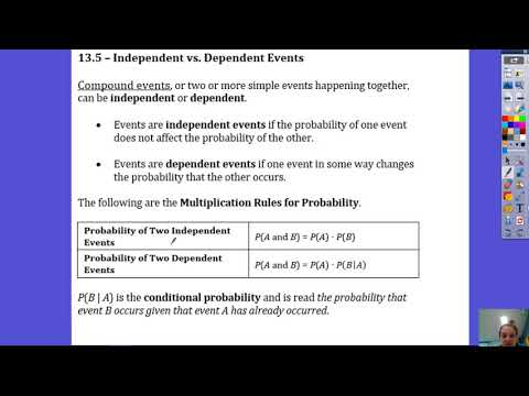13.5 Probabilities of Independent and Dependent Events