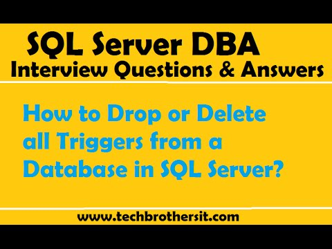 How to Drop or Delete all Triggers from a Database in SQL Server - SQL Server Tutorial