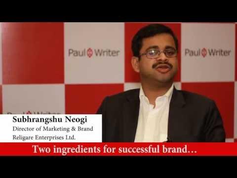 In Conversation with Subhrangshu Neogi, Director – Marketing & Brand, Religare Enterprises Ltd.