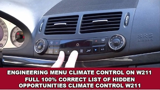 Mercedes W210 Climate Control Fault Codes / Codes of errors climate