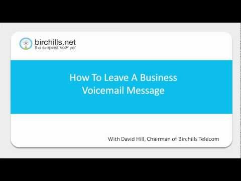 How To Leave A Business Voicemail Message