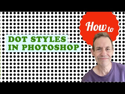 Create dot pattern styles in Photoshop tutorial