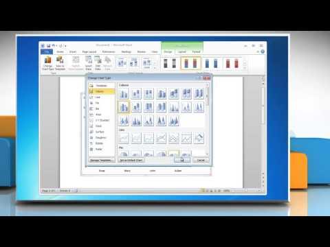 How to make a Column (Vertical Bar) Graph in Microsoft® Word 2010