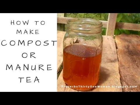 How to Make Compost or Manure Tea Fertilizer