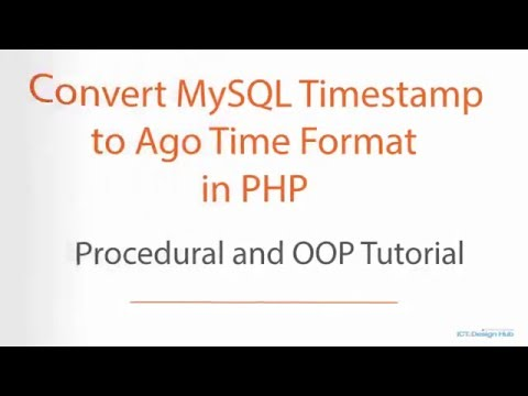 Convert MySQL Timestamp to Ago Time Format in PHP